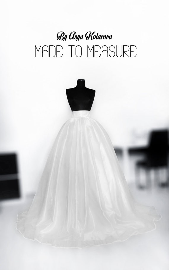 Organza wedding skirt Satin ball gown Bridal skirt Full skirt