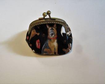 Dog Coin Purse, Bags and Purses, Coin Purse,  Dog Print Purse,  Small Purse, Change Purse, Pouches & Coin Purse, Accessories, Women