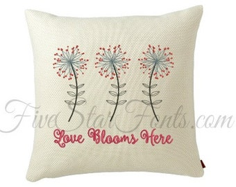 Love Blooms Here Embroidery Design