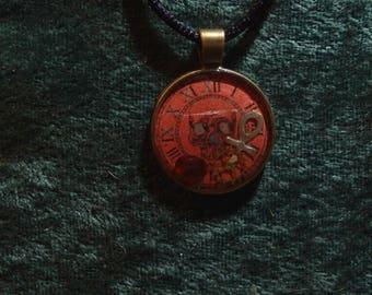 Clock of Fate: Eternity Ankh || Resin Pendant
