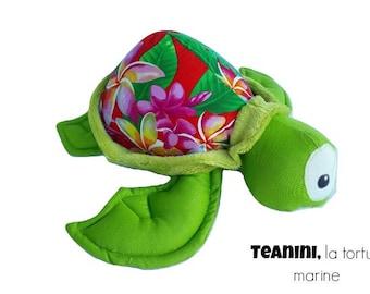 Turtle plush teanini, turtle, turtle, sea turtle plush Navy