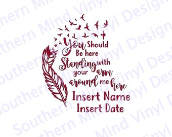 You Should be here Memory SVG  Download