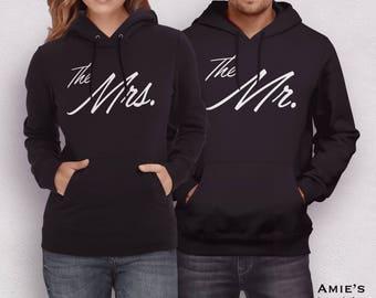Valentines Matching Hoodies, Matching Sweaters, Mr Mrs Sweatshirts, Matching Mr Mrs Hoodies, Valentines Gift, Wifey Hubby Matching Hoodies