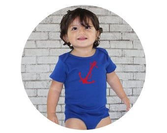 Nautical Baby Clothes, Baby Bodysuit, Infant Onepiece, Anchor Shirt, Organic Baby Clothing Baby boy Clothes Nautical Baby Shower, Baby Girl
