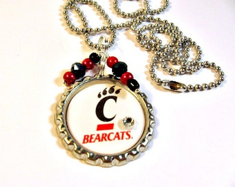 University of Cincinnati, Cincinnati Bearcats Necklace, UOC Bearcats Jewelry, College Jewelry, Bearcats Accessories, UOC, College Gift