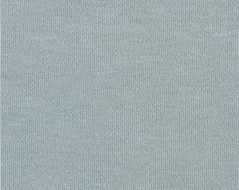 214539 solid mineral green birch knit organic fabric from the USA
