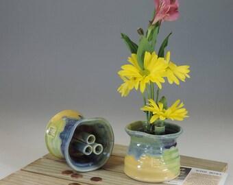 Ikebana Wish Bowl yellow/green/purple