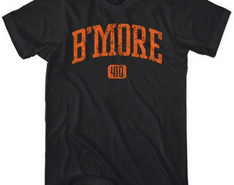 B'more 410 T-shirt - Men and Unisex - Baltimore Tee - XS S M L XL 2x 3x 4x - 4 Colors