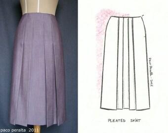 PLEATED SKIRT pattern.-