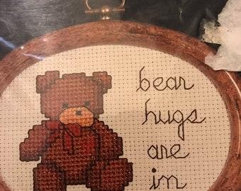 APRILSALE Dale Burdett Bear Hugs Are In counted cross stitch kit