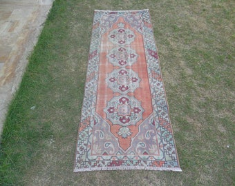 Rug Runner, Hallway Runner, Turkish Rug Runner, Oushak Rug Runner, Turkish Oushak Runner, Handwoven Runner Rug