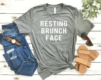 Sarcastic Brunch Shirts - Resting Brunch Face - Foodie Shirts for Men and Women Short-Sleeve Unisex T-Shirt