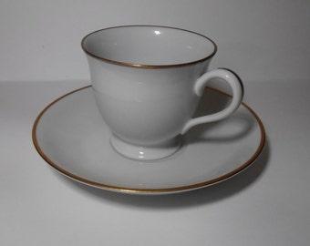 Vintage Noritake Demitasse cup and saucer set of 6, Noritake Contemporary, Gold  rim