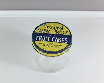 Vintage 1950's, Tropical Brand glass jar - Fruit Cakes vintage glass container