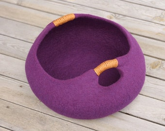 20 various colors cat bed/cat house/cat cave/basket felted cat bed