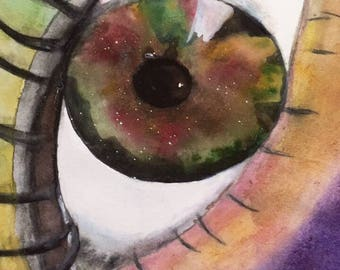 hazel eye water color