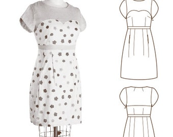 Colette Patterns Macaron Dress Sewing Pattern sizes 0 - 18