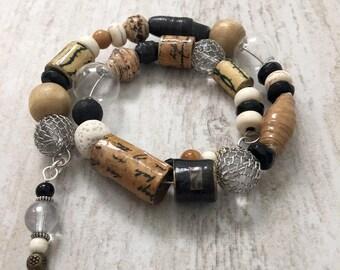 Tiger Tales - handmade wrap around bracelet