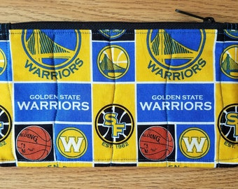 Golden State Warriors Quilted Zippered Pouch