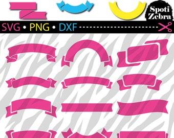Banner SVG Ribbon SVG Files for Cricut Silhouette Laser Cut Engraved svg dxf png files (scrap booking clip art clipart vinyl)