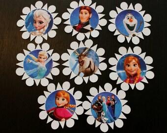 Congelados inspirado cupcake toppers, toppers de Elsa Magdalena
