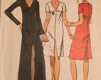 Simplicity 5056 misses 1970s dress pattern size 16