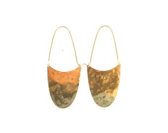 Breeze Earrings - Original swingy bronze shapes