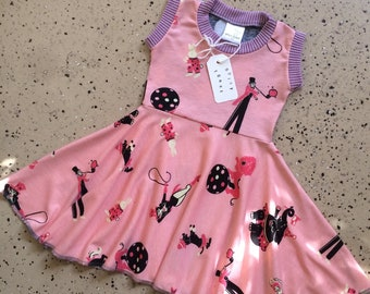 Pink Child Circus Dress 2T Spicy Toast Handmade