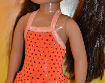 """Bright Orange Swimsuit for Your 14 1/2"""" Doll"""