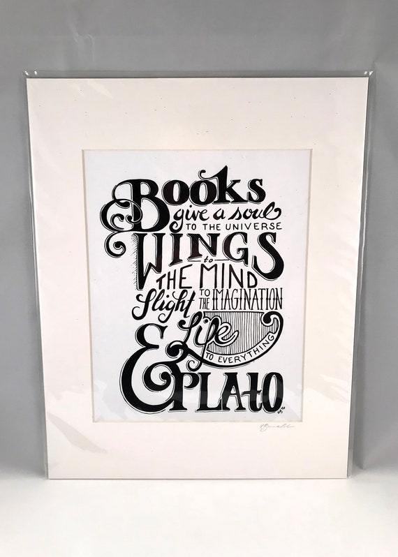 Hand Drawn Plato Print | Hand Written Quote Signs | Typography | Home Decor | Gifts for the Home | Gift for Mom | Gift for Co Worker