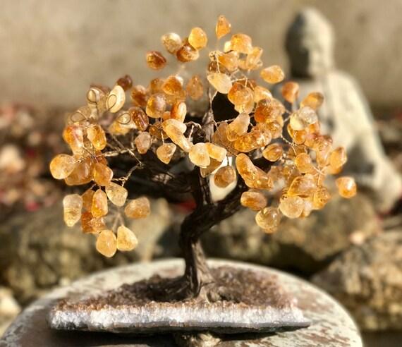 Crystal Bonsai Tree ~ Large, Stone Tree, Crystal Tree, Crystal Tree of Life, Crystal Wishing Tree, Rose Quartz Tree, Amethyst Tree Feng Shui