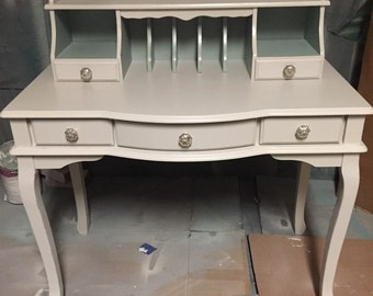 Pearl Grey Secretary Desk