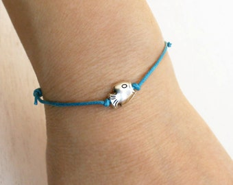 Little Fish Bracelet, Little Fish Anklet (many colors to choose)