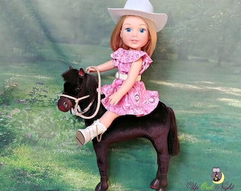 "Doll Cowgirl Outfit in Pink -- American Made for Your 14"" Wellie Girl Doll"