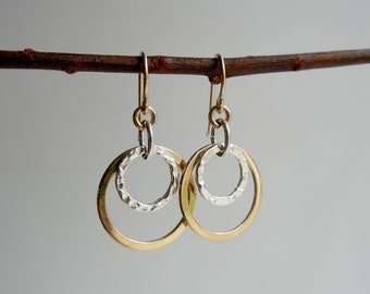 Gold and Silver Arianrhod II Earrings