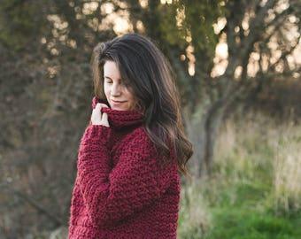 Snuggle Up Sweater Crochet Pattern, Sizes Child 4, 6, 8, 10, Women's XS, S, M, L, XL, 1X, 2X, 3X