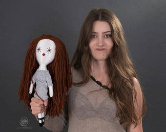Personalized portrait doll, individual rag doll
