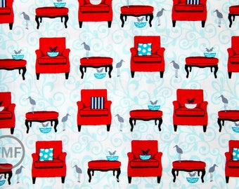 Perfectly Perched Nesting Chairs in Celebration, Laurie Wisbrun, Robert Kaufman Fabrics, 100% Cotton Fabric, AWN-12848-203 CELEBRATION