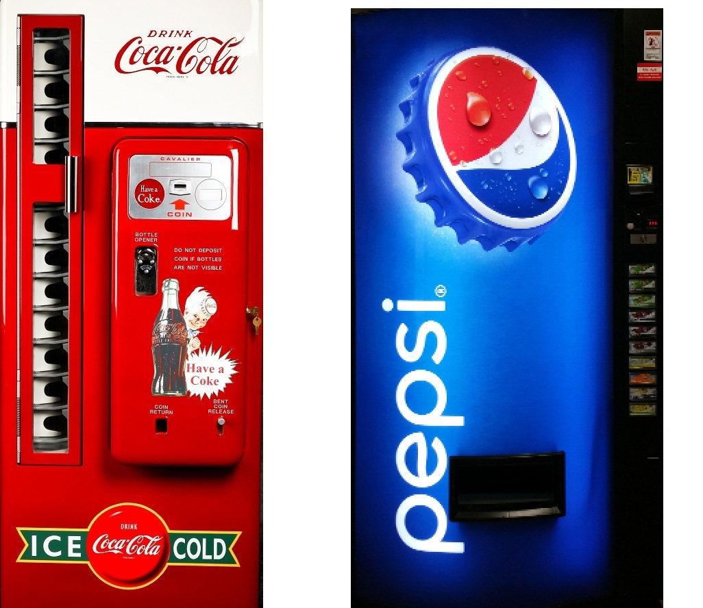 Fridge Vinyl Sticker Coca Cola and Pepsi /