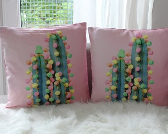 Marshmallow Cactus Cushion Cover