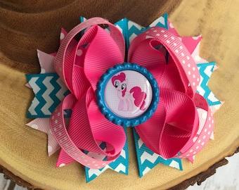 Pinkie pie bow, my little pony bow