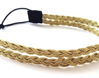 Gold Braid Double Strand Headband