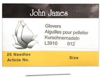 Tools & Supplies-Glovers Needle-Leather-Size 12-Quantity 25