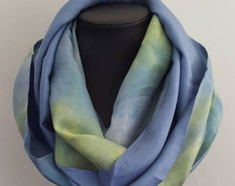 scarf, scarves, silk scarf, silk scarves, infinity scarf, gift for her, gift for woman, gift for mom, anniversary gift, gift for wife, silk