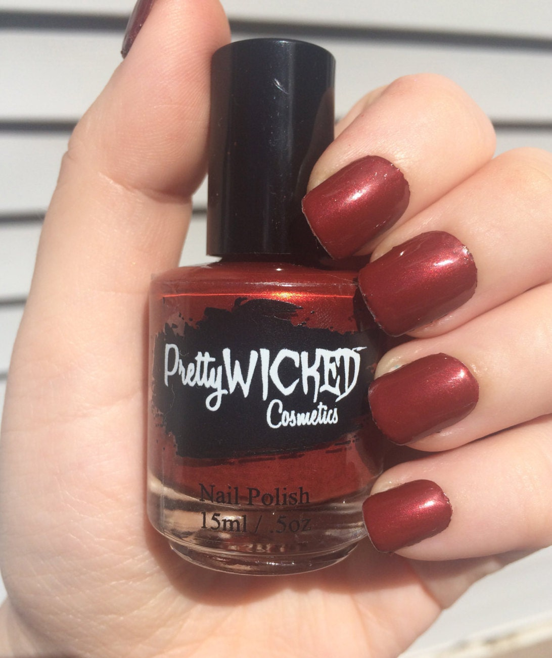 Blood Red Nail Polish - Jezebel Polish - Red Nail Polish - Dark Red ...