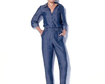 McCall's Sewing Pattern M7330 Misses' Button-Up Utility Jumpsuits and Rompers