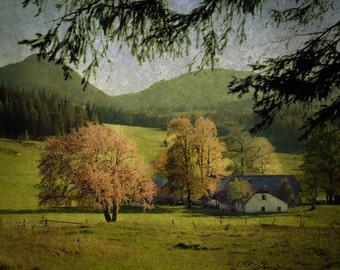 Vienna Austria - Fine Art Photograph - Farm in the Alps
