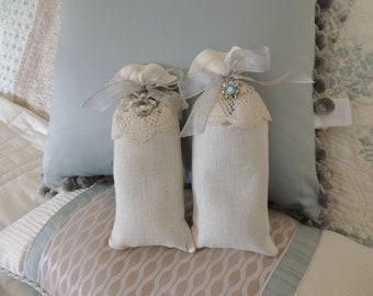 Handmade Linen Lavender Sachets