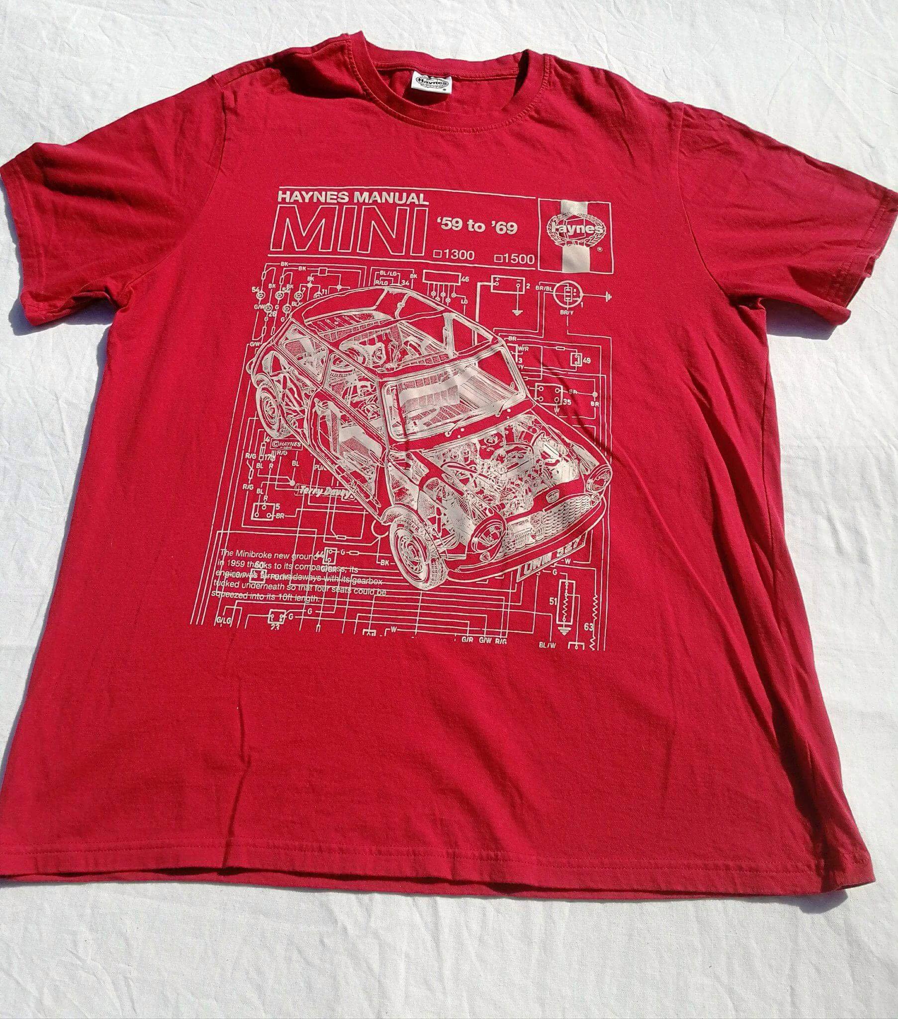 Haynes mini 59-69 manual tshirt l