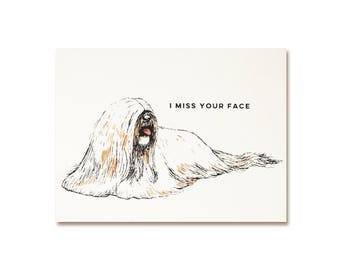 Romantic Card - Miss Your Face